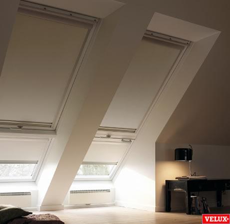 dakraam rolgordijn dakvenster lichtkoepel rolgordijn black out donker maken luxaflex velux sunway wwwdakraam